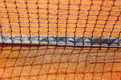 Close up of tennis net, blur background. Stock Image