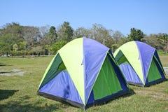 Tents for the tourist at sankampang hot spring Chiang Mai,Thailand stock photo