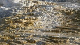 Close up of terraces at mammoth hot springs in yellowstone national park
