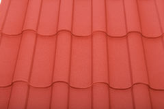 Close up of terracotta roof tiles Stock Image