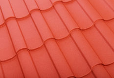 Close up of terracotta roof tiles Royalty Free Stock Photography