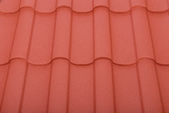 Close up of terracotta roof tiles Royalty Free Stock Images
