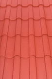 Close up of terracotta roof tiles Royalty Free Stock Image