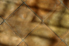 Close up of Terracotta tiles Stock Image