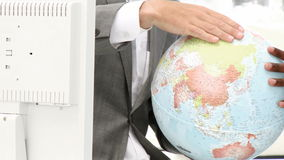 Close up of a terrestrial globe Stock Photos