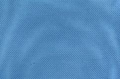 Close Up Texture Background of Blue Polyester Fabric Stock Image