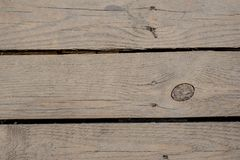 Close up texture background of three old unpainted wooden boards. Close up texture background of the three old unpainted wooden boards horizontally arranged with Stock Photos