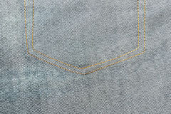 Close up texture of blue jean or denim Royalty Free Stock Photography