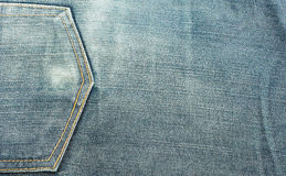 Close up texture of blue jean or denim Royalty Free Stock Photo