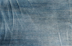 Close up texture of blue jean or denim Stock Images