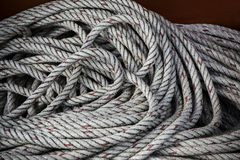 Close up texture of  boat rope line Royalty Free Stock Images