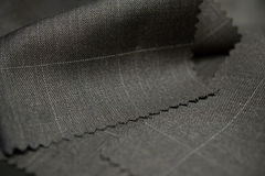 Close up texture brown with white line fabric of suit Royalty Free Stock Photo
