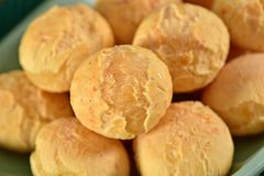 Golden cheese breads Stock Images
