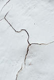 Close Up texture crack of Chipped White peeling paint, covered w Royalty Free Stock Photography