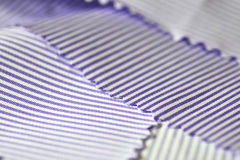 Close up texture fabric light purple line and white of shirt. Photo shoot by depth of field for object Stock Image