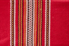 Close-up texture fabric in red style Royalty Free Stock Photos