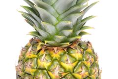 Close up texture of fresh ripe pineapple background. Stock Images