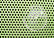 Close up texture of green sound speaker Royalty Free Stock Images