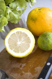 Close up texture of lemon cut half Stock Image
