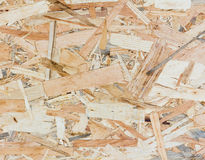 Close up texture of oriented strand board - OSB Royalty Free Stock Photography