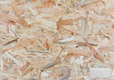 Close up texture of oriented strand board - OSB Stock Image