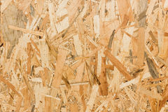 Close up texture of oriented strand board (OSB) Royalty Free Stock Photography