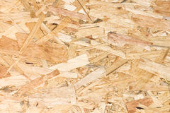 Close up texture of oriented strand board OSB Royalty Free Stock Photos