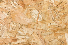 Close up texture of oriented strand board (OSB) Royalty Free Stock Photos