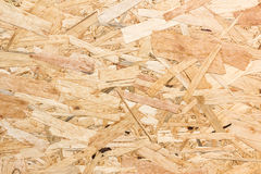 Close up texture of oriented strand board (OSB) Royalty Free Stock Images
