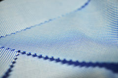 Close up texture pattern fabric blue and white of shirt Royalty Free Stock Photography