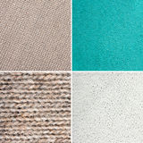 Close-up of texture set. Close-up of wool and leather texture set Royalty Free Stock Photography