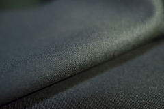 Close up texture silver black fabric of suit Stock Photos