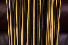 Close up texture of standing reed light Stock Photo