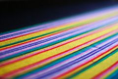 Close up texture of Thai silk style. Thai fabric classic colorful pattern royalty free stock photography