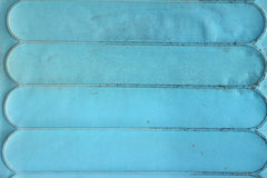 Close-up texture of vintage blue leather sofa Stock Images