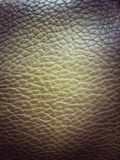 Close-up texture of vintage leather sofa Stock Photography