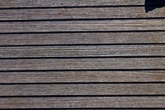 Close up and texture of Wooden Deck. Of Sailboat royalty free stock photo