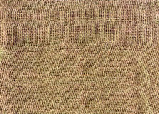 Close-up textured background of burlap Stock Photography