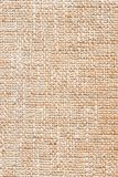 Close-up textured background of burlap. Royalty Free Stock Photography