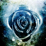 Close-up Textured do motivo de Rosa do metal Fotografia de Stock