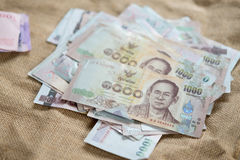Close up of Thai banknote stock photography