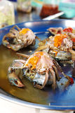 Close up thai crab on plate Stock Photo