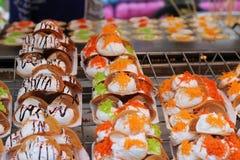 Close up of thai crispy pancake - cream crepes Stock Photography