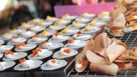 Close up of thai crispy pancake - cream crepes Stock Photo