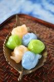 Close up Thai Dessert on Tray Royalty Free Stock Photo
