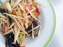 Close-up,Thai food style:& x22;Som Tum& x22;Thai papaya salad.  royalty free stock images