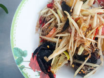 Close-up,Thai food style:& x22;Som Tum& x22;Thai papaya salad Stock Images