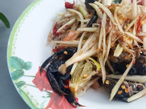 Close-up,Thai food style:& x22;Som Tum& x22;Thai papaya salad Royalty Free Stock Photos
