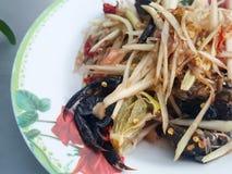 Close-up,Thai food style:& x22;Som Tum& x22;Thai papaya salad Royalty Free Stock Photos