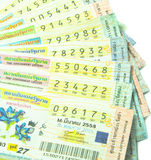 Close up of Thai lottery tickets Stock Photography